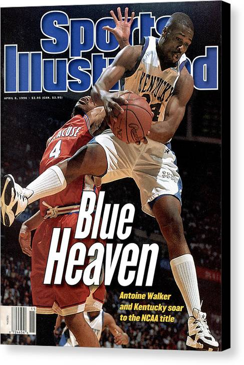Sports Illustrated Canvas Print featuring the photograph University Of Kentucky Antoine Walker, 1996 Ncaa National Sports Illustrated Cover by Sports Illustrated