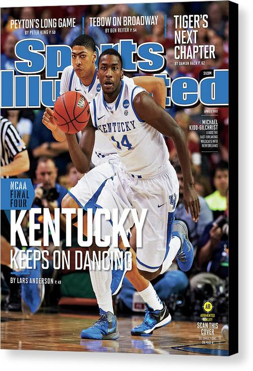 Atlanta Canvas Print featuring the photograph University Of Kentucky Michael Kidd-gilchrist, 2012 Ncaa Sports Illustrated Cover by Sports Illustrated