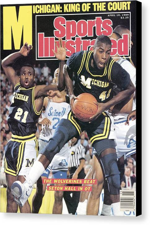 Glen Rice Canvas Print featuring the photograph University Of Michigan Glen Rice, 1989 Ncaa National Sports Illustrated Cover by Sports Illustrated