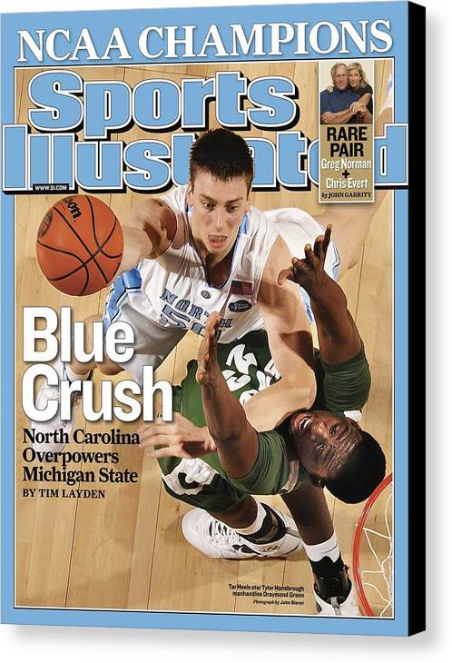 Michigan State University Canvas Print featuring the photograph University Of North Carolina Tyler Hansbrough, 2009 Ncaa Sports Illustrated Cover by Sports Illustrated