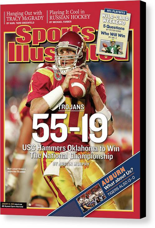 Miami Gardens Canvas Print featuring the photograph University Of Southern California 2004 Bcs National Sports Illustrated Cover by Sports Illustrated
