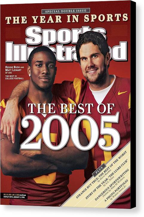 Hotel Canvas Print featuring the photograph University Of Southern California Qb Matt Leinart And Sports Illustrated Cover by Sports Illustrated