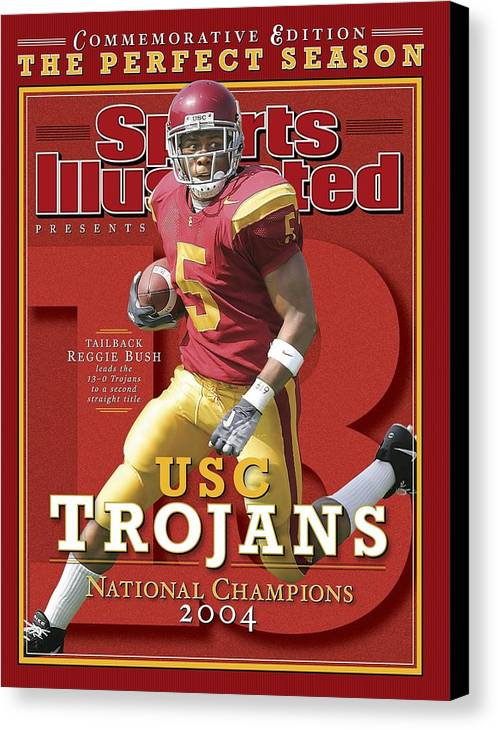 Magazine Cover Canvas Print featuring the photograph University Of Southern California Reggie Bush, 2004 Sports Illustrated Cover by Sports Illustrated