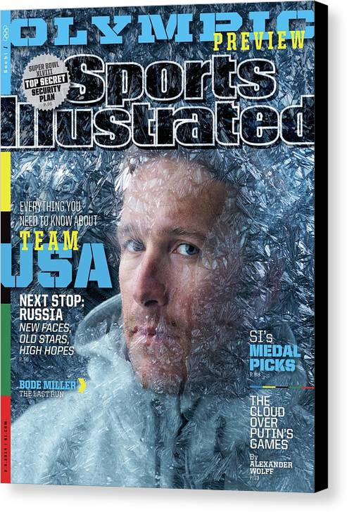 Media Day Canvas Print featuring the photograph Usa Bode Miller, 2014 Sochi Olympic Games Preview Issue Sports Illustrated Cover by Sports Illustrated