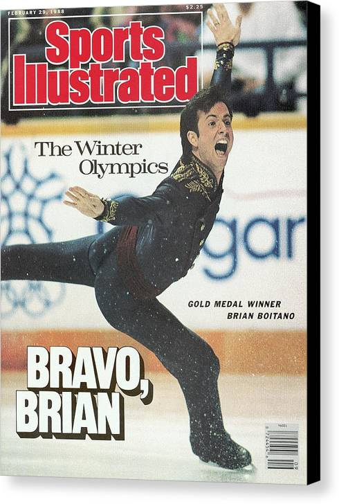 Event Canvas Print featuring the photograph Usa Brian Boitano, 1988 Winter Olympics Sports Illustrated Cover by Sports Illustrated