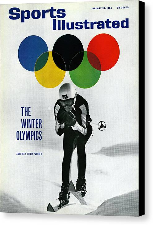 Magazine Cover Canvas Print featuring the photograph Usa Buddy Werner, 1964 Innsbruck Olympic Games Preview Sports Illustrated Cover by Sports Illustrated