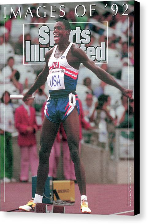 Magazine Cover Canvas Print featuring the photograph Usa Carl Lewis, 1992 Summer Olympics Sports Illustrated Cover by Sports Illustrated