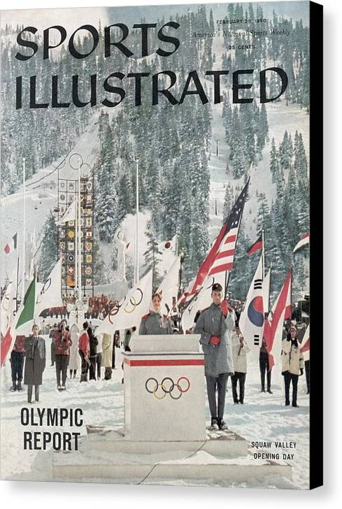 Magazine Cover Canvas Print featuring the photograph Usa Carol Heiss, 1960 Winter Olympics Sports Illustrated Cover by Sports Illustrated
