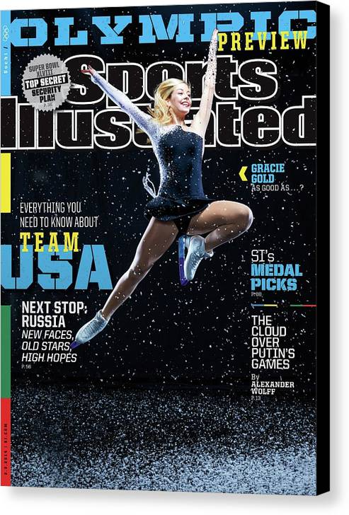 Media Day Canvas Print featuring the photograph Usa Gracie Gold, 2014 Sochi Olympic Games Preview Issue Sports Illustrated Cover by Sports Illustrated