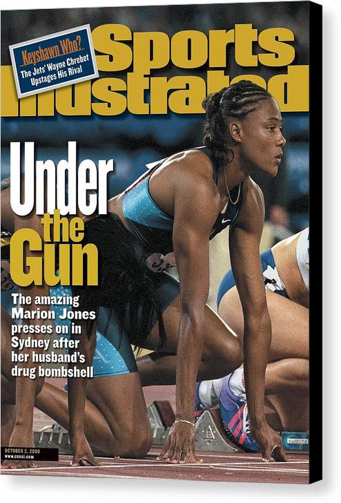 Magazine Cover Canvas Print featuring the photograph Usa Marion Jones, 2000 Summer Olympics Sports Illustrated Cover by Sports Illustrated
