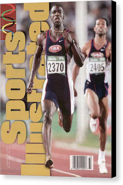 Atlanta Canvas Print featuring the photograph Usa Michael Johnson, 1996 Summer Olympics Sports Illustrated Cover by Sports Illustrated