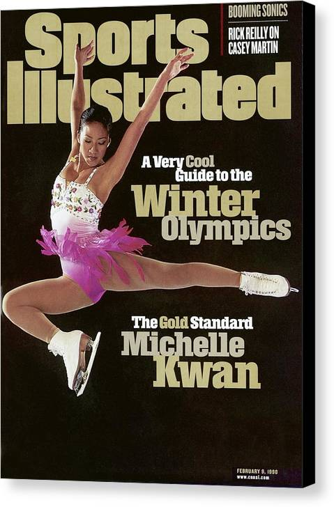 The Olympic Games Canvas Print featuring the photograph Usa Michelle Kwan, 1998 Nagano Olympic Games Preview Sports Illustrated Cover by Sports Illustrated