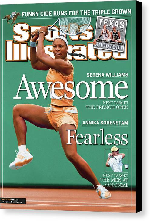 Tennis Canvas Print featuring the photograph Usa Serena Williams, 2003 State Farm Womens Tennis Classic Sports Illustrated Cover by Sports Illustrated