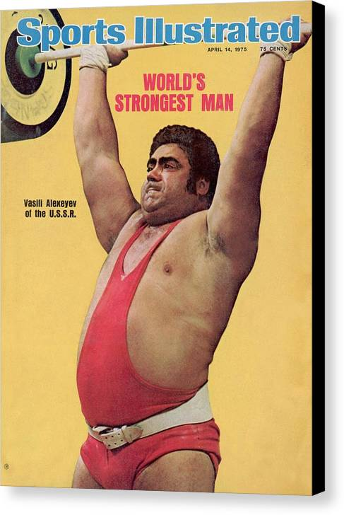 Event Canvas Print featuring the photograph Ussr Vasily Alexeyev, 1972 Summer Olympics Sports Illustrated Cover by Sports Illustrated