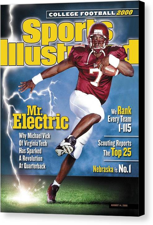 Sports Illustrated Canvas Print featuring the photograph Virginia Tech Michael Vick Sports Illustrated Cover by Sports Illustrated