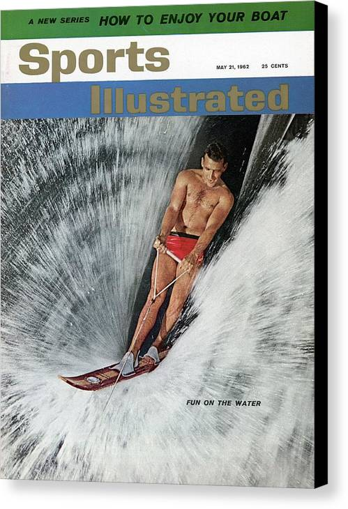 Atlanta Canvas Print featuring the photograph Water Skiing Sports Illustrated Cover by Sports Illustrated