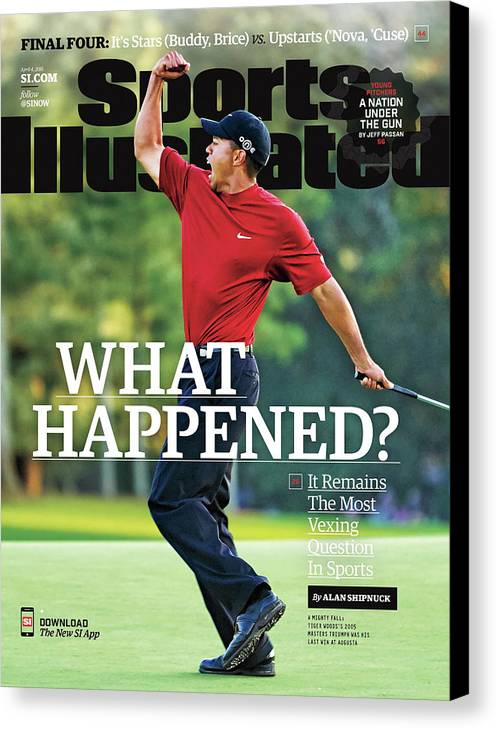 Magazine Cover Canvas Print featuring the photograph What Happened It Remains The Most Vexing Question In Sports Sports Illustrated Cover by Sports Illustrated