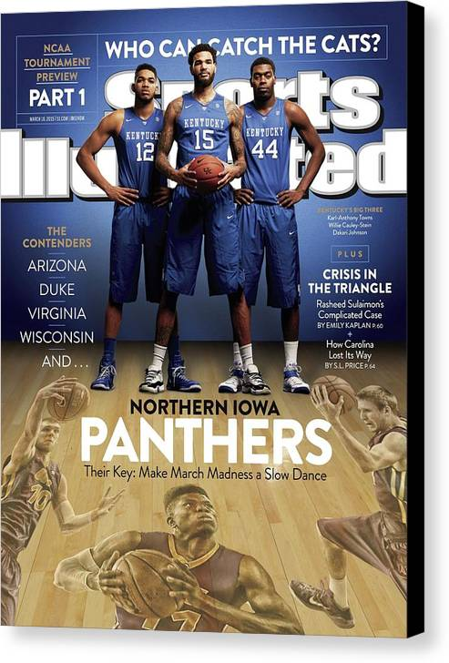 Magazine Cover Canvas Print featuring the photograph Who Can Catch The Cats Northern Iowa Panthers, Their Key Sports Illustrated Cover by Sports Illustrated