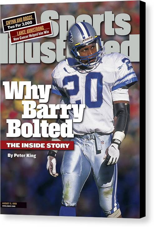 Green Bay Canvas Print featuring the photograph Why Barry Bolted The Inside Story Sports Illustrated Cover by Sports Illustrated