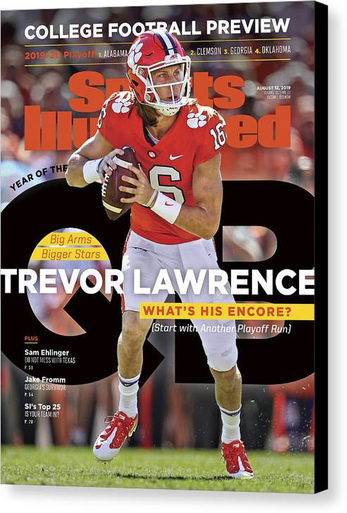 Canvas Print featuring the photograph Year Of The Qb Clemson University Trevor Lawrence, 2019 Sports Illustrated Cover by Sports Illustrated