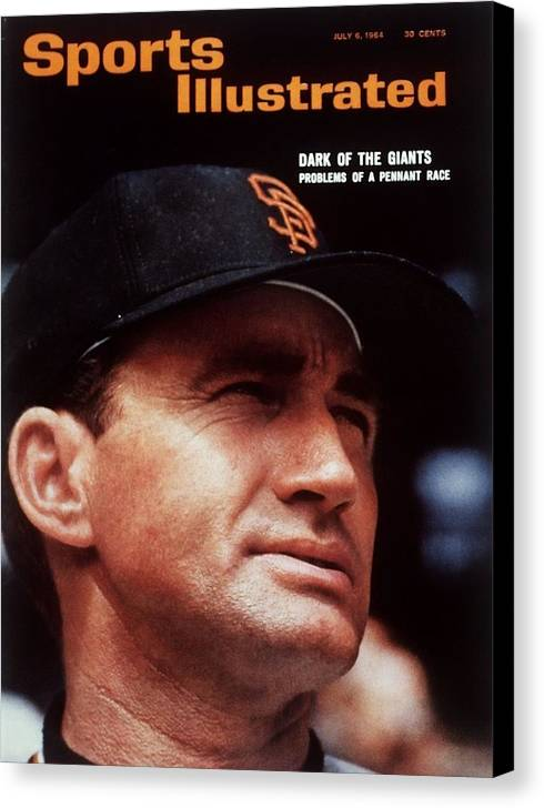 Alvin Dark Canvas Print featuring the photograph San Francisco Giants Manager Alvin Dark, 1963 All Star Game Sports Illustrated Cover by Sports Illustrated