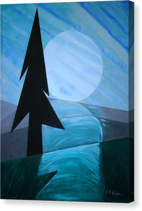 Phases Of The Moon Canvas Print featuring the painting Reflections On The Day by J R Seymour