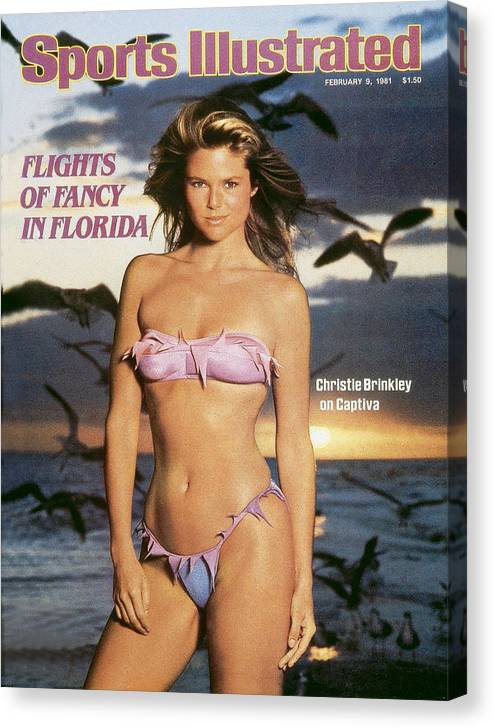 1980-1989 Canvas Print featuring the photograph Christie Brinkley Swimsuit 1981 Sports Illustrated Cover by Sports Illustrated