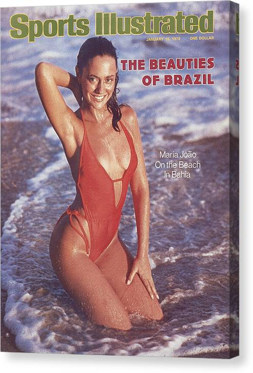 Social Issues Canvas Print featuring the photograph Maria Joao Swimsuit 1978 Sports Illustrated Cover by Sports Illustrated