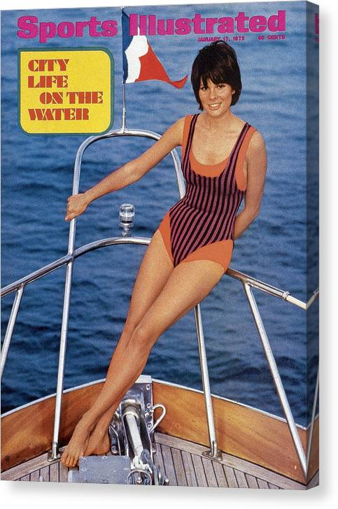 Social Issues Canvas Print featuring the photograph Sheila Roscoe Swimsuit 1972 Sports Illustrated Cover by Sports Illustrated