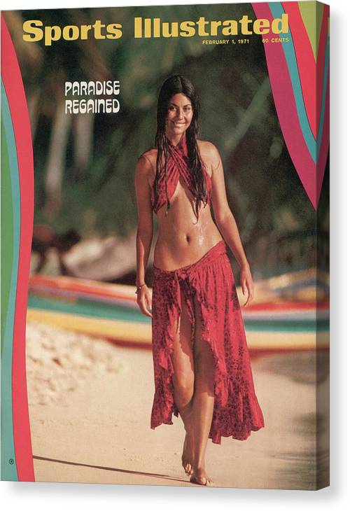 Social Issues Canvas Print featuring the photograph Tannia Rubiano Swimsuit 1971 Sports Illustrated Cover by Sports Illustrated