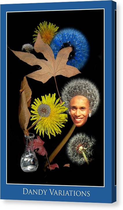 Flowers Canvas Print featuring the photograph Dandy Variations by Richard Gordon