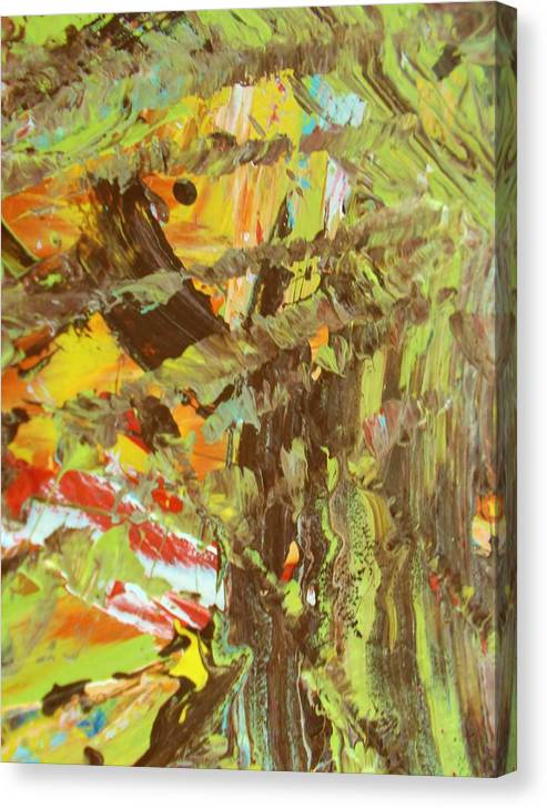 Original Canvas Print featuring the painting Life Adjust Ments by Artist Ai
