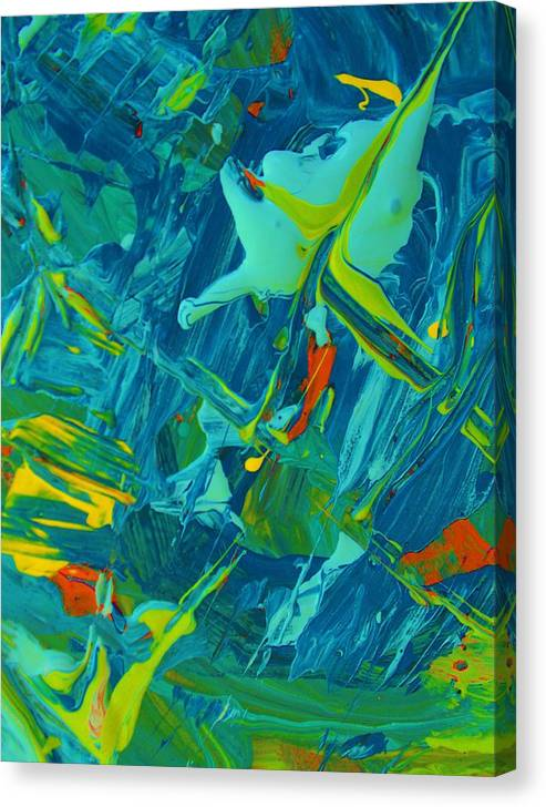 Original Canvas Print featuring the painting Moonlighting by Artist Ai