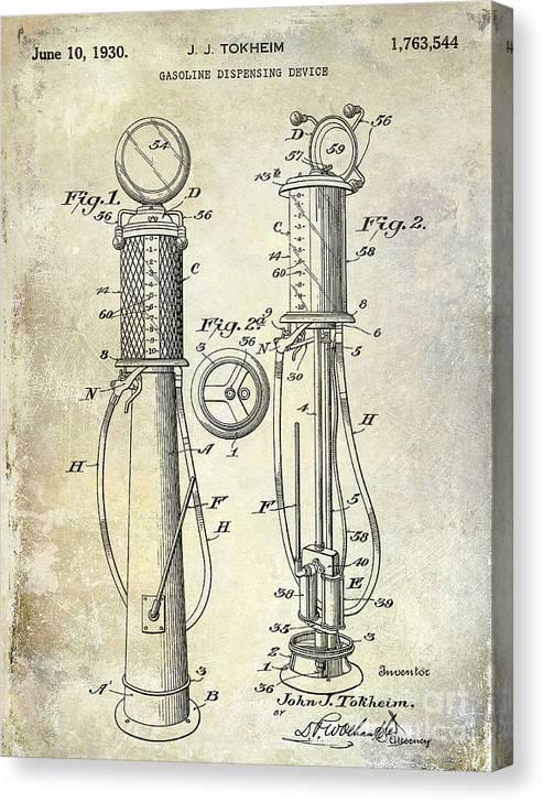 1930 Gas Pump Patent by Jon Neidert
