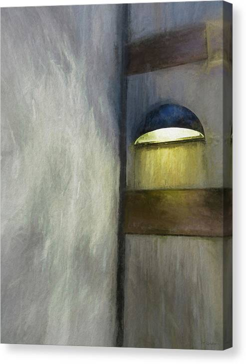 Pastel Canvas Print featuring the photograph Light In Corner by Tony Grider