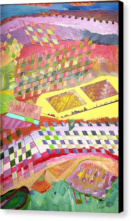 Fantasy Canvas Print featuring the painting A View From Above by Eric Devan