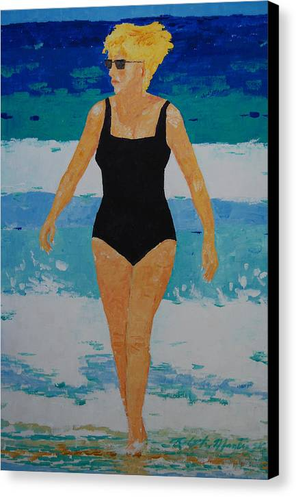 Beach Art Canvas Print featuring the painting I Got A Woman by Art Mantia