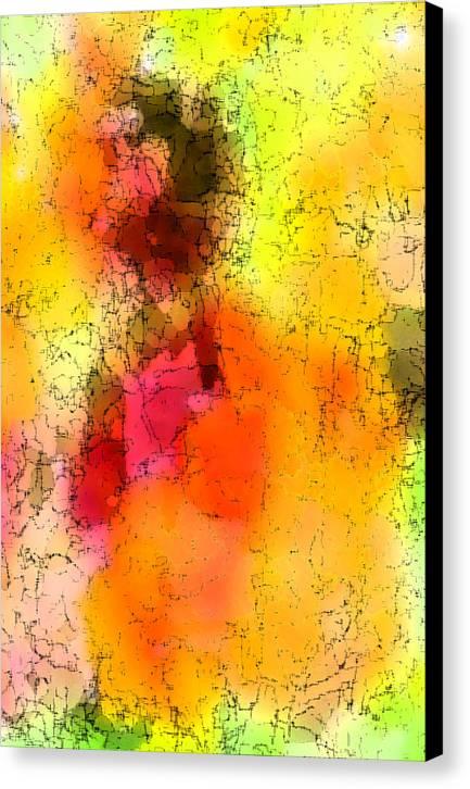 Digital Art Canvas Print featuring the digital art Surfing The Sun by Tom Romeo