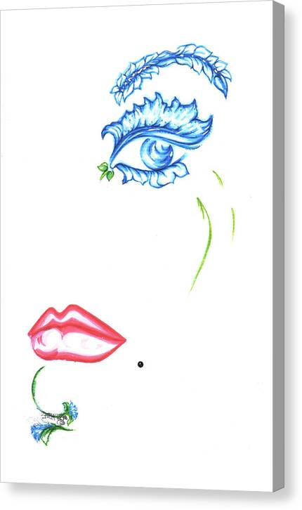 Eve Collection Canvas Print featuring the drawing Lady Daisy by Judith Herbert