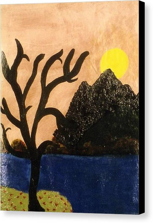 Landscape Canvas Print featuring the painting Silent by Ruth El