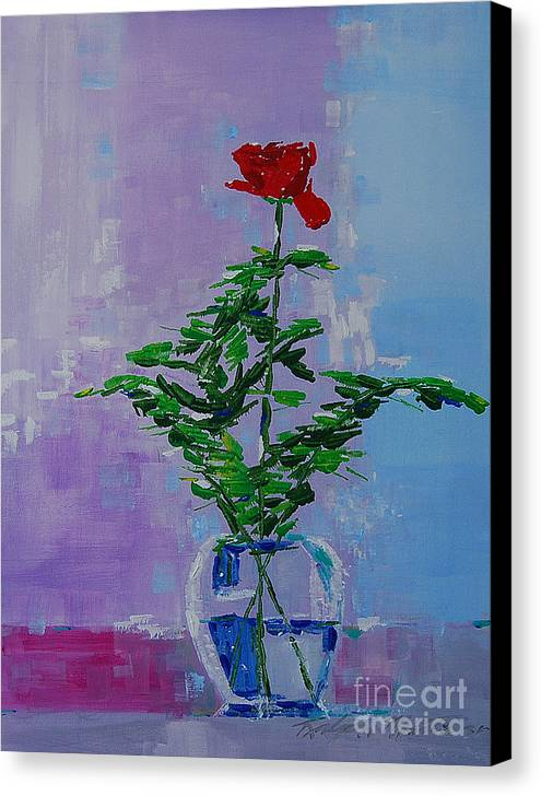 Flowers Canvas Print featuring the painting The Gift by Art Mantia