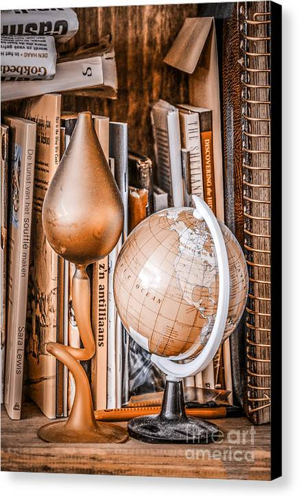Book Canvas Print featuring the photograph Bookshelf by Fred Imon