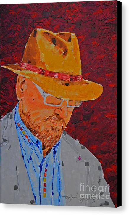 Portrait Canvas Print featuring the painting The Critic by Art Mantia