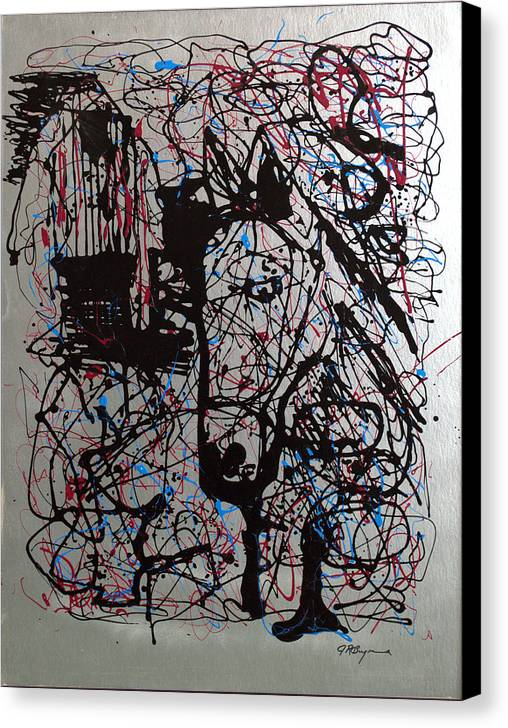 Impressionist Painting Canvas Print featuring the painting Barnyard Horse by J R Seymour