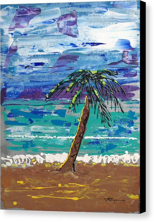 Impressionist Painting Canvas Print featuring the painting Palm Beach by J R Seymour