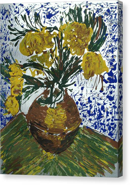 Flowers Canvas Print featuring the painting Van Gogh by J R Seymour