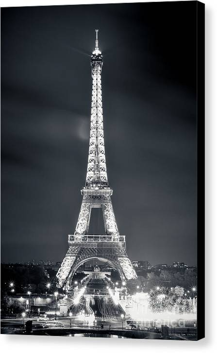 Eiffel Canvas Print featuring the photograph The Eiffel Tower by Marko Moudrak