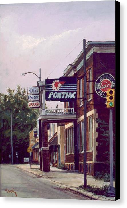 Landscape Canvas Print featuring the painting Hemlock Hotel by William Brody