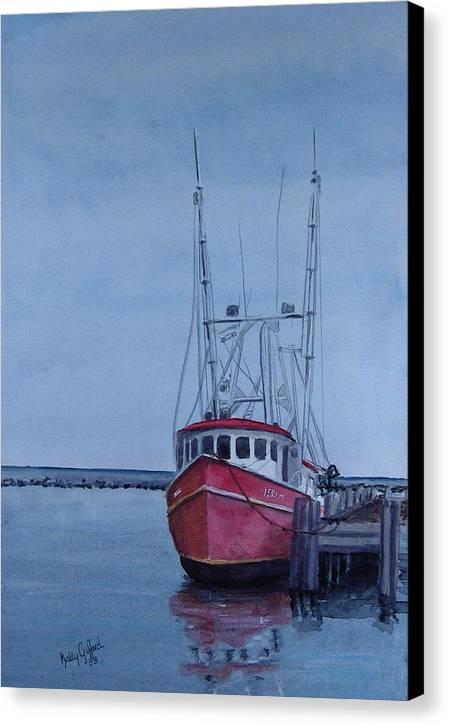 Fishing Trawler Canvas Print featuring the painting Provincetown Portuguese by Haldy Gifford