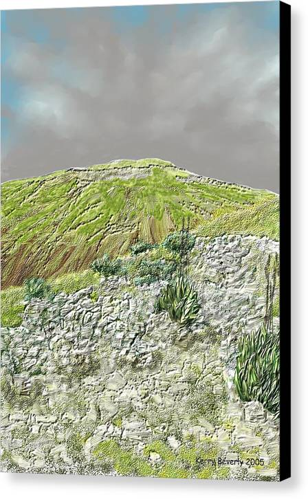 Austin Canvas Print featuring the digital art West Of The Hill Country by Kerry Beverly